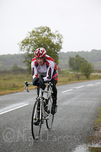 12 JUN 2011 - BRANSGORE, GBR - Ian Walsh - Quintuple Enduroman race - Enduroman Ultra Triathlon Championships .(PHOTO (C) NIGEL FARROW)
