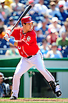 20 June 2010: Washington Nationals' outfielder Josh Willingham at bat against the Chicago White Sox at Nationals Park in Washington, DC. The Nationals were swept by the White Sox falling 6-3 in the last game of their 3-game interleague series. Mandatory Credit: Ed Wolfstein Photo
