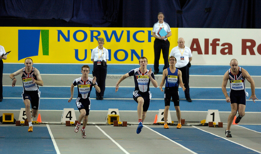 Photo: Jed Wee..Norwich Union International, Glasgow. 27/01/2007...Mens Disability 60m race.