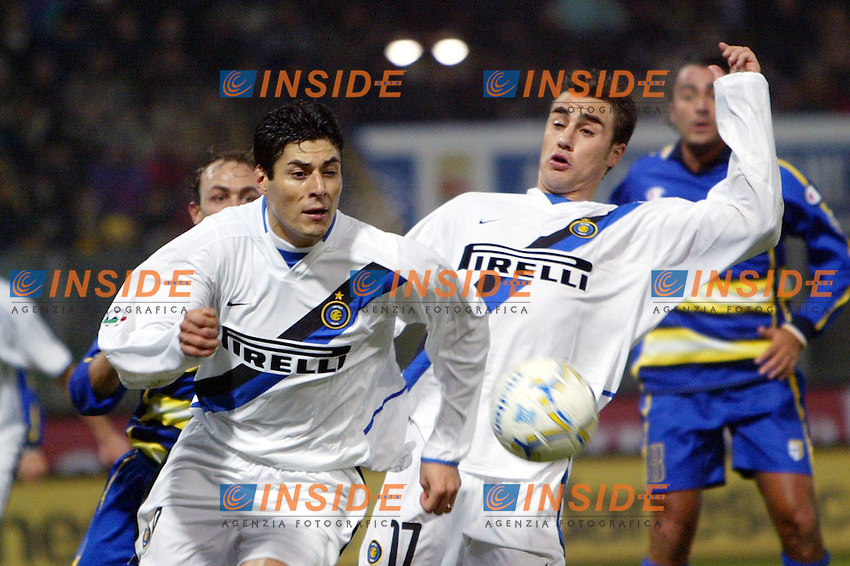 Parma 10/1/2004<br /> Parma Inter 1-0<br /> Julio Cruz (Inter) e Fabio Cannavaro (Inter)<br /> Photo Andrea Staccioli Insidefoto