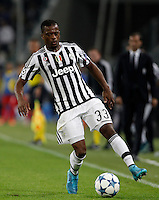 Calcio, Champions League: Gruppo D - Juventus vs Siviglia. Torino, Juventus Stadium, 30 settembre 2015. <br /> Juventus&rsquo; Patrice Evra in action during the Group D Champions League football match between Juventus and Sevilla at Turin's Juventus Stadium, 30 September 2015. <br /> UPDATE IMAGES PRESS/Isabella Bonotto