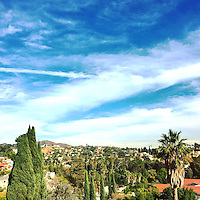 View of Los Angeles, California from the Hollywood Hills on December 3, 2015.
