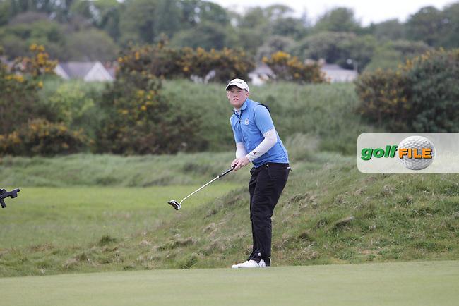 Jamie Savage (SCO) during Round 4 of The Irish Amateur Open Championship in The Royal Dublin Golf Club on Sunday 11th May 2014.<br /> Picture:  Thos Caffrey / www.golffile.ie