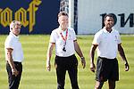 Nederland,Katwijk, 6 september 2012.seizoen 2012/2013.Het Nederlands elftal traint bij Quick boys in Katwijk .Bondscoach Louis van Gaal en zijn assistent Patrick Kluivert