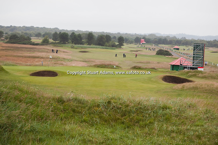 Images from Carnoustie Golf Links ahead of the Ricoh Woman's British Open to be played over the Championship Links from 28th to 31st July 2011; Picture Stuart Adams, SAFOTO. www.safoto.co.uk;  16th July 2011