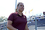 04 September 2016: Minnesota head coach Stefanie Golan. The Duke University Blue Devils hosted the University of Minnesota Golden Gophers at Koskinen Stadium in Durham, North Carolina in a 2016 NCAA Division I Women's Soccer match. Duke won the game 1-0.