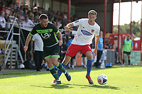 Will Wright of Dagenham and Redbridge and Liam Noble of Hartlepool United during Dagenham & Redbridge vs Hartlepool United, Vanarama National League Football at the Chigwell Construction Stadium on 14th September 2019