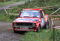Martin McCormack / David Moynihan at Junction 6, on Special Stage 1 Craigvinean in the Colin McRae Forest Stages Rally 2012, Round 8 of the RAC MSA Scotish Rally Championship which was organised by Coltness Car Club and based in Aberfeldy on 5.10.12.