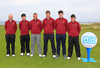 Ballybunion Team for the Munster Final of the AIG Junior Cup at Tralee Golf Club, Tralee, Co Kerry. 13/08/2017<br /> <br /> Brendan Daly (Captain), James O'Callaghan, Brian Slattery, Frank Geary Jnr, Ronan Cross and Philip Byrne <br /> <br /> Picture: Golffile | Thos Caffrey<br /> <br /> <br /> All photo usage must carry mandatory copyright credit     (&copy; Golffile | Thos Caffrey)