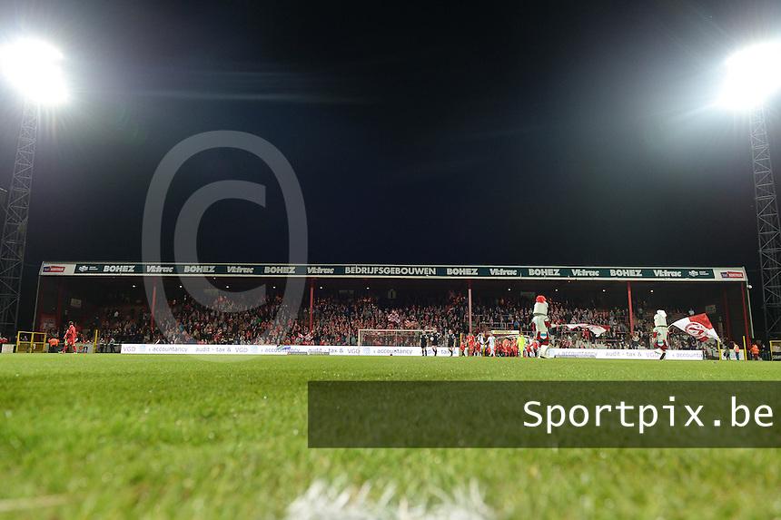 KV Kortrijk : Tribune 2 - Vak I<br /> foto VDB / BART VANDENBROUCKE