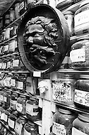 Brooklyn, New York City, NY. April 1974.<br /> Witchcraft is the oldest religion. Mystical objects sold in the &quot;Warlock&quot; shop are used during sabbath ceremony.