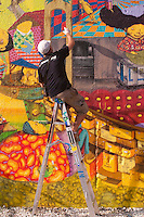 Os Gemeos completes a new Mural on the site of the old Keith Haring Mural, East Houston Street and the Bowery
