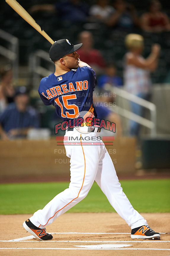 Glendale Desert Dogs Ramon Laureano (15), of the Houston Astros organization, during the Bowman Hitting Challenge on October 8, 2016 at the Salt River Fields at Talking Stick in Scottsdale, Arizona.  (Mike Janes/Four Seam Images)