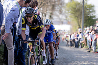 Niki Terpstra (NED/Direct Energie) up the Oude Kwaremont<br /> <br /> 62nd E3 Harelbeke 2019 (1.UWT)<br /> Harelbeke – Harelbeke: 203,9km<br /> ©kramon