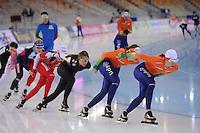 SPEEDSKATING: SOCHI: Adler Arena, 21-03-2013, Training, Lotte van Beek (NED), Marrit Leenstra (NED), © Martin de Jong