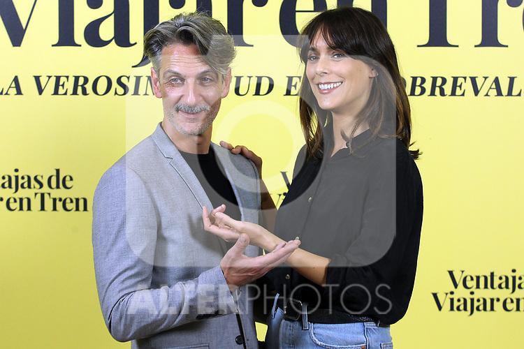 Ernesto Alterio and Belen Cuesta attend Ventajas De Viajar En Tren photocall at Urso Hotel on November 05, 2019 in Madrid, Spain.(ALTERPHOTOS/ItahisaHernandez)