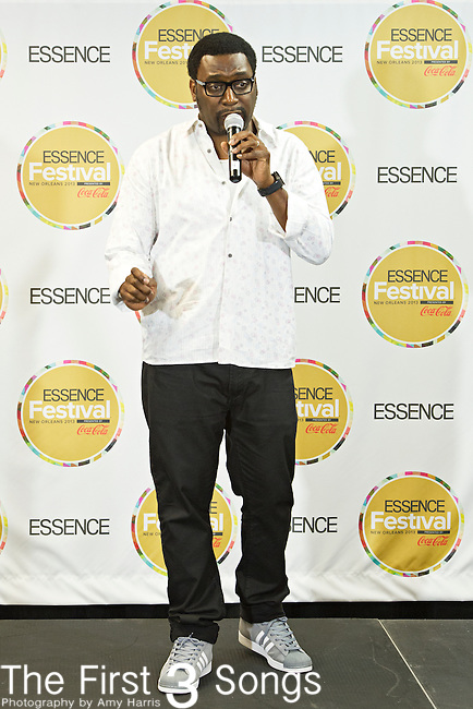 Big Daddy Kane (born Antonio Hardy) speaks to the media at the 2013 Essence Festival at the Mercedes-Benz Superdome in New Orleans, Louisiana.