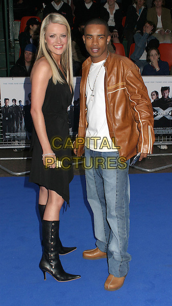 HAYLEY EVETTES .Attending the X-Men 2 Premiere, Odeon West End, London..24th April 2003 .Ref: Ten.full length, full-length, black boots, brown leather jacket.www.capitalpictures.com.sales@capitalpictures.com.©Capital Pictures