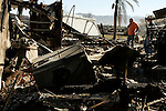 Nov 17, 2008 - Yorba Linda, California, USA - HOMAYOUN GHANI returns home on Monday, November 17 to view the wreckage of his Yorba Linda, CA home which was destroyed in Saturday's Triangle Complex  wildfire..(Credit Image: © Jonathan Alcorn/ZUMA Press)