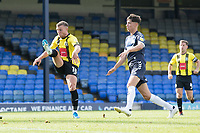 Jack Muldoon, Harrogate Town,  fires the visitors opening goal during Southend United vs Harrogate Town, Sky Bet EFL League 2 Football at Roots Hall on 12th September 2020