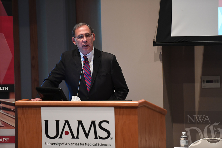 NWA Democrat-Gazette/J.T. WAMPLER U.S. Sen. John Boozman speaks Monday August 12, 2019 before a panel discussion at the University of Arkansas for Medical Sciences Schmieding Center for Senior Health and Education in Springdale, called to address the shortage of physician residency positions in Arkansas and how the ÒThe Resident Physician Shortage Reduction ActÓ can help.