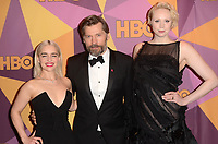 BEVERLY HILLS, CA - JANUARY 7: Emilia Clarke, Nikolaj Coster-Waldau, Gwendoline Christy at the HBO Golden Globes After Party, Beverly Hilton, Beverly Hills, California on January 7, 2018. <br /> CAP/MPI/DE<br /> &copy;DE//MPI/Capital Pictures