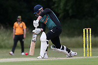 F Jacobs of Harold Wood during Gidea Park and Romford CC vs Harold Wood CC, Shepherd Neame Essex League Cricket at Gidea Park Sports Ground on 6th July 2019