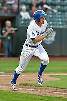 Gavin Lux (7) of the Ogden Raptors hustles down the first base line against the Orem Owlz during the Pioneer League game at Lindquist Field on September 9, 2016 in Ogden, Utah. This was Game 1 of the Southern Division playoff. Orem defeated Ogden 6-5. (Stephen Smith/Four Seam Images)