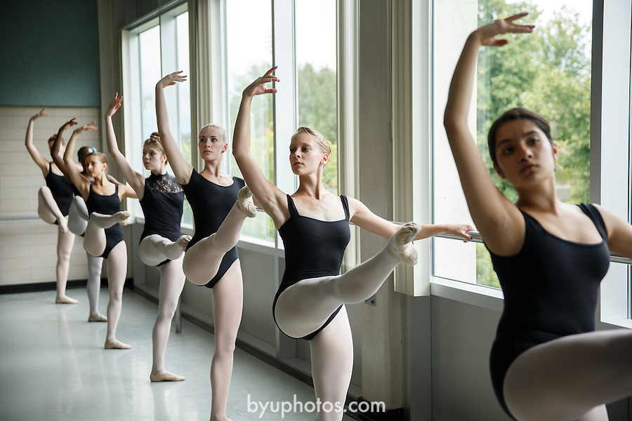 1309-37 302<br /> <br /> 1309-37 Theatre Ballet Class<br /> <br /> Shani Robison<br /> <br /> September 13, 2013<br /> <br /> Photo by Jaren Wilkey/BYU<br /> <br /> &copy; BYU PHOTO 2013<br /> All Rights Reserved<br /> photo@byu.edu  (801)422-7322