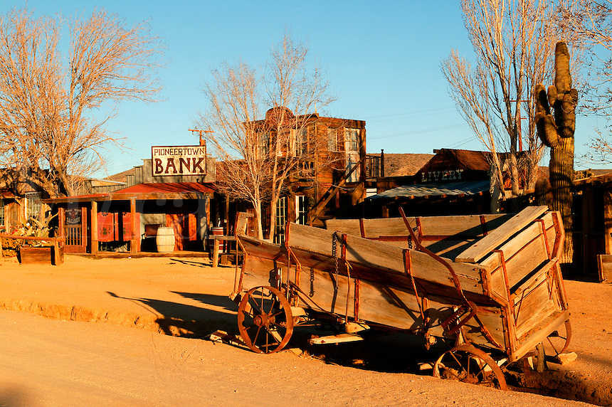The old western movie set of Pioneertown, California.