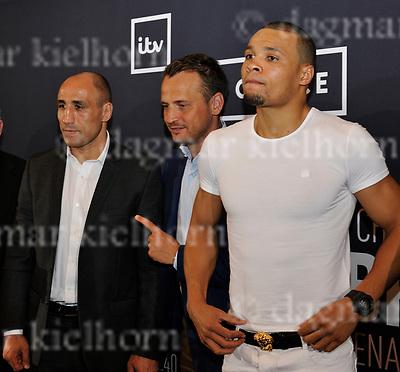 June 08-17, Hotel TITANIC , Berlin<br /> Next fight announcement: l:  Arthur Abraham vs r: Chris Eubank Jr.,  m: Nisse Sauerland (Promoter Team Sauerland) Super Middleweight fight ,IBO Championship