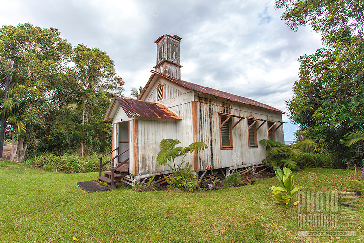 Historic Pohakupuka Congregational Church, Papaikou, Big Island.