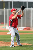 Nick Masset. Cincinnati Reds spring training workouts at the Reds new complex, Goodyear, AZ - 02/19/2010.Photo by:  Bill Mitchell/Four Seam Images.