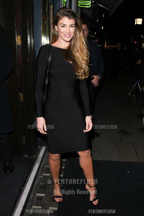 Amy Willerton arriving for James Ingham's Jog on to Cancer 2018 at Cafe de Paris, London, UK. <br /> 04 April  2018<br /> Picture: Steve Vas/Featureflash/SilverHub 0208 004 5359 sales@silverhubmedia.com