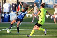 Kansas City, MO - Saturday June 25, 2016: Shea Groom, Rachel Corsie during a regular season National Women's Soccer League (NWSL) match at Swope Soccer Village.