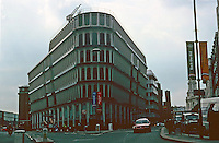 London: Dreadful Office Building, built in '70's,  South of St. Paul's.  Cannon St.  Concrete and glass.  Photo 2005.