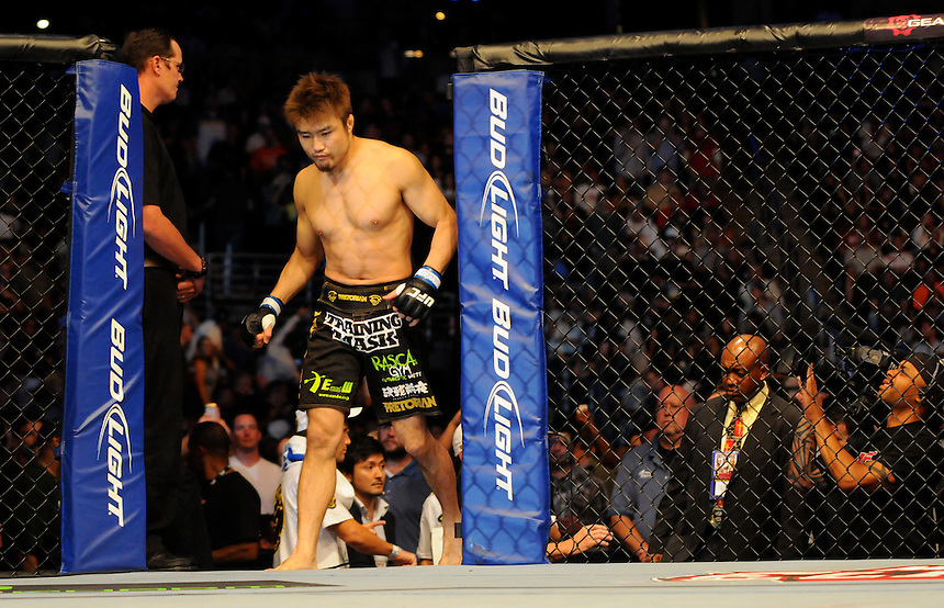 24 SEPTEMBER 2011:   Takanori Gomi comes into the octagon  during UFC 135 at the Pepsi Center in Denver, Colorado. *****For Editorial Use Only*****