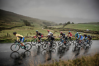 Primoz Roglic (SVK/Jumbo-Visma) leading the breakaway group up the Kidstones Climb<br /> <br /> Elite Men Road Race from Leeds to Harrogate (shortened to 262km)<br /> 2019 UCI Road World Championships Yorkshire (GBR)<br /> <br /> ©kramon