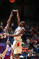 SAN ANTONIO, TX - FEBRUARY 23, 2006: The Stephen F. Austin State  University Lumberjacks vs. The University of Texas at San Antonio Roadrunners Men's Basketball at the UTSA Convocation Center. (Photo by Jeff Huehn)