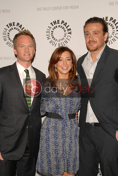 Neil Patrick Harris, Alyson Hannigan and Jason Segel<br /> at the Paley Center's 'How I Met Your Mother' 100th Episode Celebration, Paley Center for Media, Beverly Hills, CA. 01-07-10<br /> David Edwards/Dailyceleb.com 818-249-4998