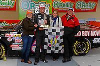 24-25 April, 2009, Kansas City, Kansas, USA.Winner Mike Skinner in Victory Lane. Toyota hat..©F. Peirce Williams 2009 USA.F. Peirce Williams.photography