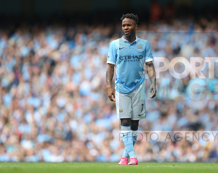 Raheem Sterling of Manchester City - Manchester City vs Watford - Barclay's Premier League - Etihad Stadium - Manchester - 29/08/2015 Pic Philip Oldham/SportImage