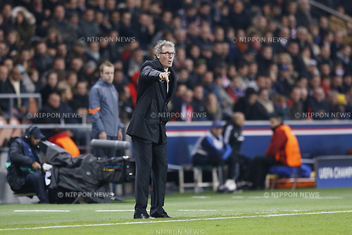 Laurent Blanc (PSG), NOVEMBER 25, 2014 - Football / Soccer : UEFA Champions League Group F match between Paris Saint-Germain 3-1 AFC Ajax at the Parc des Princes Stadium in Paris, France. (Photo by Mutsu Kawamori/AFLO) [3604]