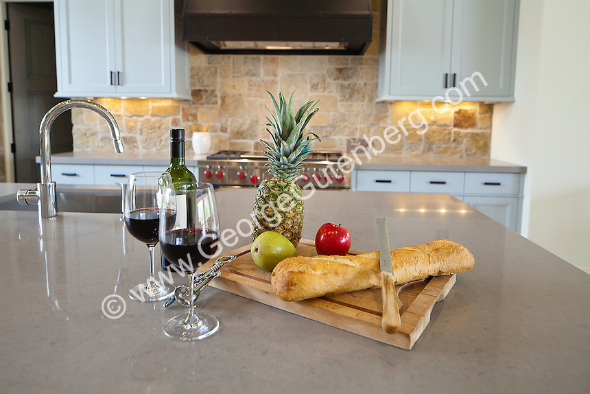 Stock photo of kitchen center island