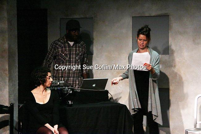 "One Life To Live's Florencia Lozano ""Tea Delgado stars with  Amanda Sayle in ""Verbatim Verboten - NYC"" on October 18, 2010 at the WorkShop Theater, NYC. (Photo by Sue Coflin/Max Photos)"