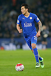 Leonardo Ulloa of Leicester City during the Barclays Premier League match at The King Power Stadium.  Photo credit should read: Malcolm Couzens/Sportimage