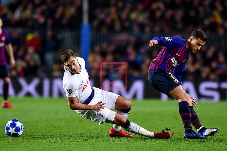 UEFA Champions League 2018/2019 - Matchday 6.<br /> FC Barcelona vs Tottenham Hotspur FC: 1-1.<br /> Winks vs Coutinho.