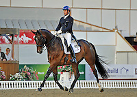 16.05.2014.  Windsor Horse Show London Carl Hester (GBR) riding Nip Tuck during the CD13* FEI Grand Prix Freestyle to music