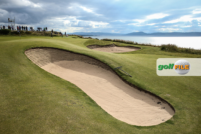 Bunkers on the 17th during Round Two of the 2016 Aberdeen Asset Management Scottish Open, played at Castle Stuart Golf Club, Inverness, Scotland. 08/07/2016. Picture: David Lloyd | Golffile.<br /> <br /> All photos usage must carry mandatory copyright credit (&copy; Golffile | David Lloyd)