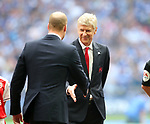 Arsene Wenger manager of Arsenal shakes hands with HRH Prince William during the Emirates FA Cup Final match at Wembley Stadium, London. Picture date: May 27th, 2017.Picture credit should read: David Klein/Sportimage